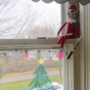 elf on the shelf dry erase on windows