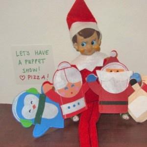 elf on the shelf finger puppets