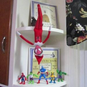 elf on the shelf spiderman