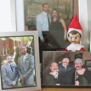 elf on the shelf with mustache