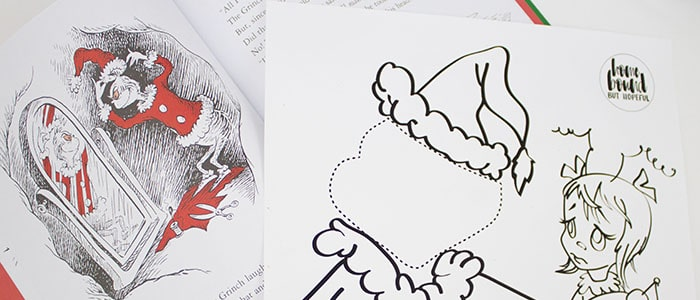 How The Grinch Stole Christmas Book Illustrations.Quick Printable Craft To Accompany How The Grinch Stole