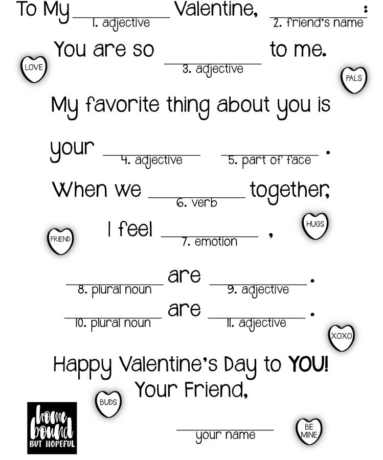 photograph regarding Valentine Mad Libs Printable known as Wheres The Take pleasure in? A Crazy Lib Valentine Homebound Nevertheless Hopeful