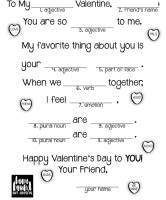 printable mad lib valentine