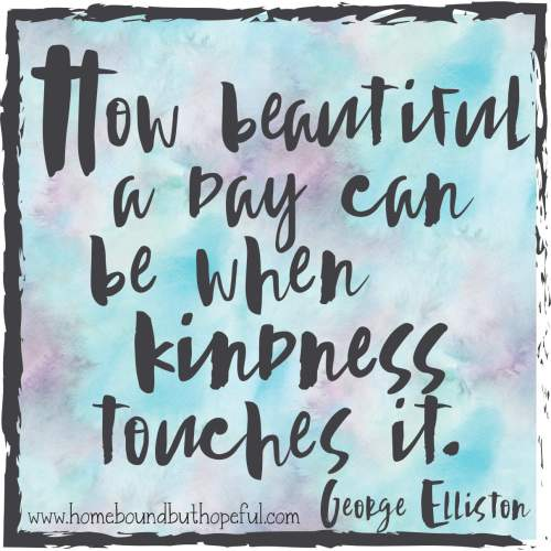 george elliston kindness quote