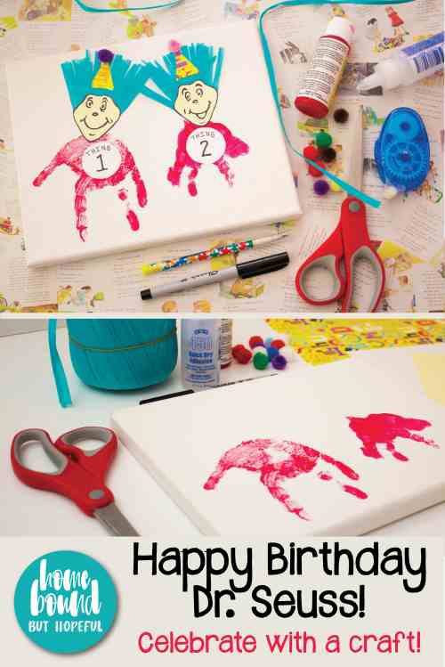Did you know that Dr. Seuss' birthday is March 2? Check out the celebrating Thing 1 and Thing 2 craft we put together in honor of his big day!