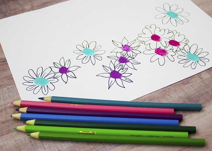 SPRING ARTS & CRAFTS FINGERPRINT FLOWERS