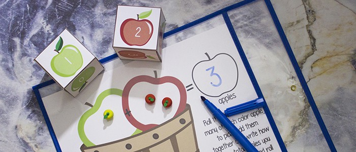 Fall Apple Picking Math with Free Printables