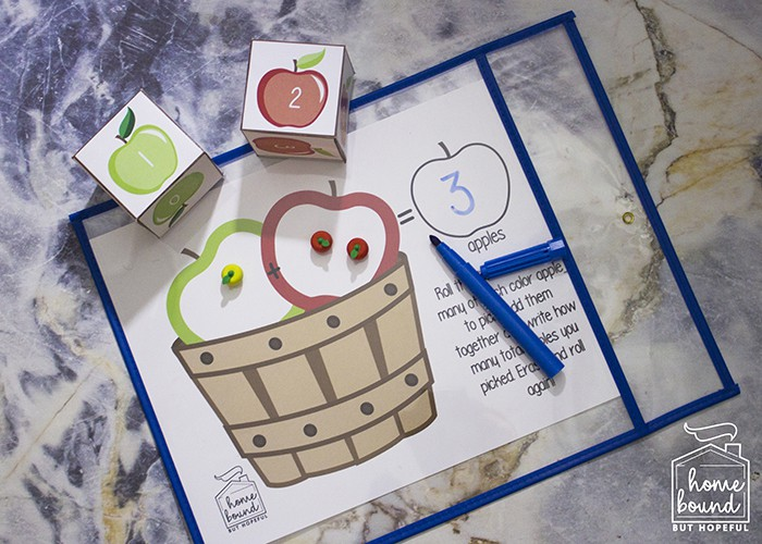 IApple Picking Math | Adding With Manipulatives