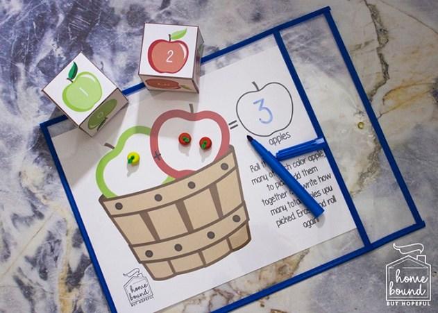 IApple Picking Math | Adding With Manipulatives
