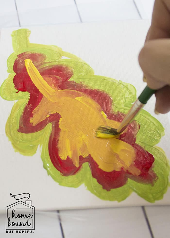 Fall Leaf Story Time Painting Project