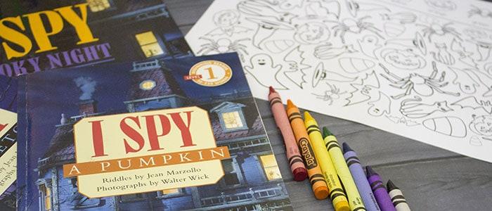 Halloween I Spy- Spooky Seek And Find Books & Printable