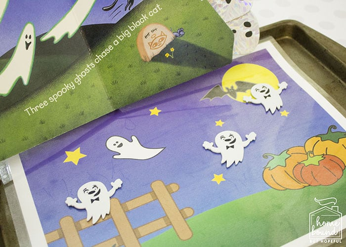 Halloween Counting Board Books- Five Spooky Ghosts- Magnetic Play