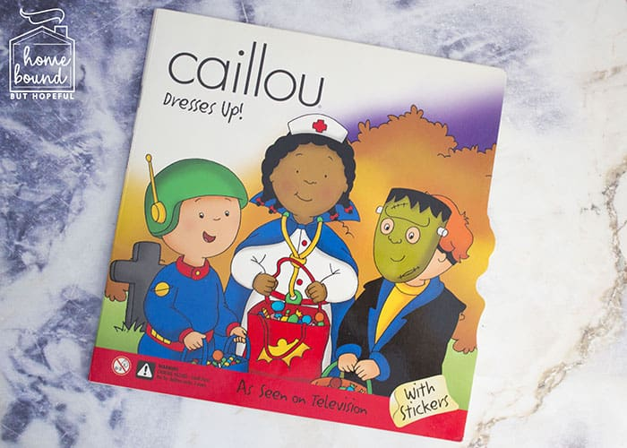 Halloween Costume Story Time- Caillou Dresses Up!