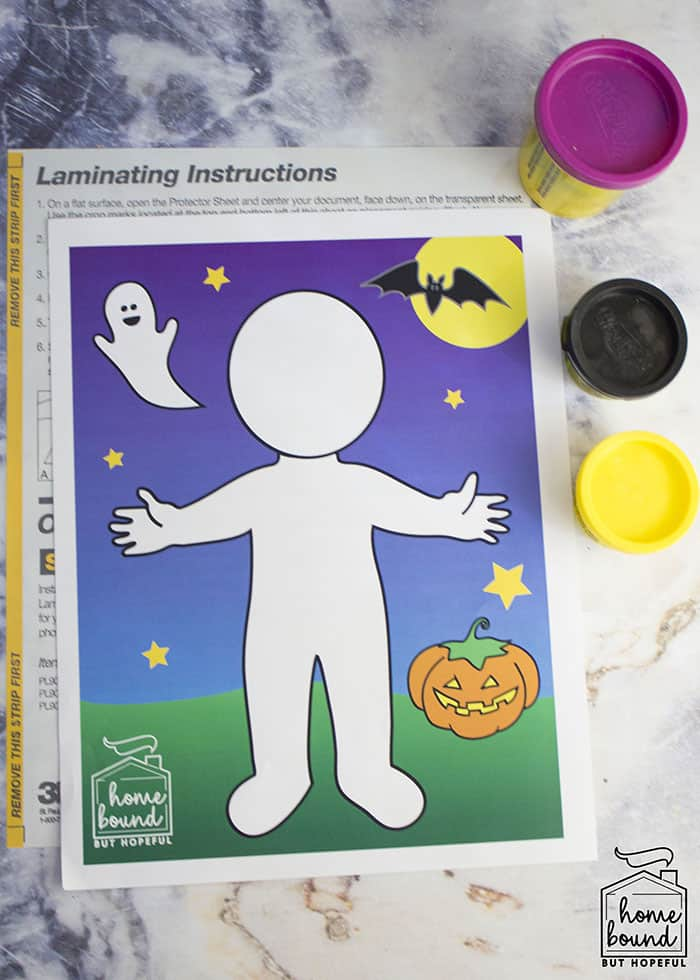Halloween Costume Story Time- Printable Play-Doh Mat