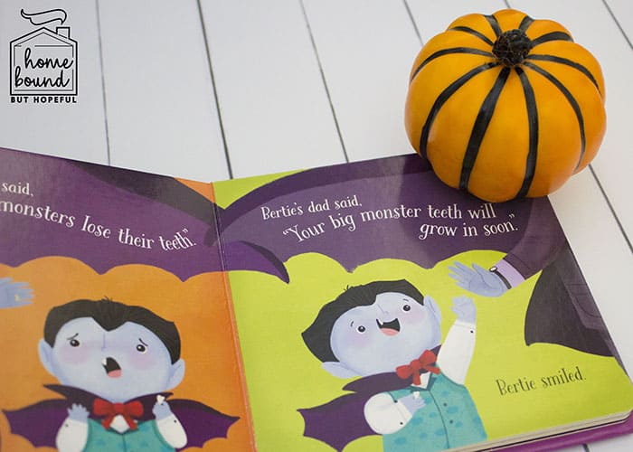 Not So Scary Halloween Book List- Little Vampire's Big Smile
