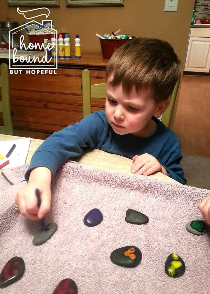 Rock Painting Story Time- Crayons