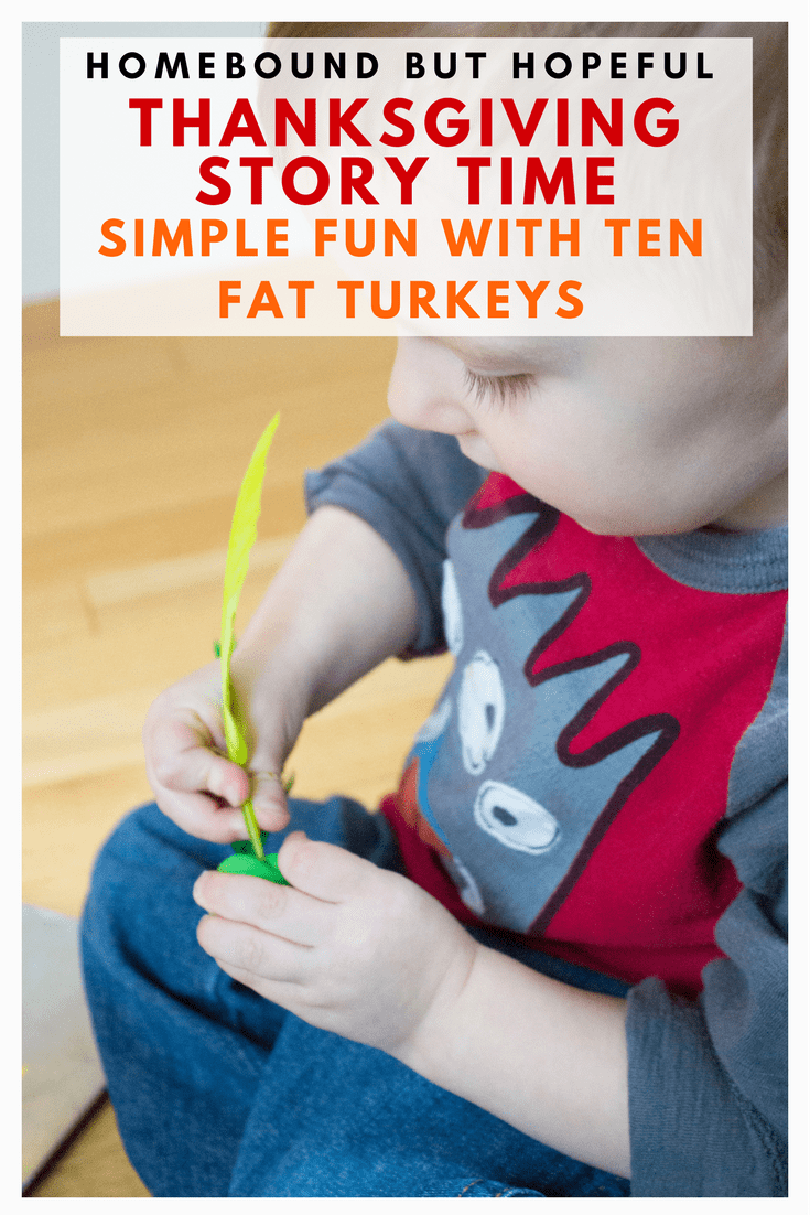 Before you dig into your turkey dinner, be sure to squeeze a little learning into your Thanksgiving! This quick and fun story time activity inspired by Ten Fat Turkeys is perfect for toddlers! #beyondthebook #Thanksgiving #Thanksgivingstorytime #readaloud #storytime #TenFatTurkeys #earlylearning