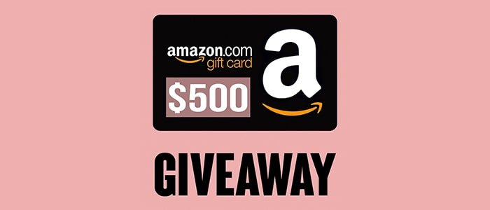 Surprise! $500 Amazon Giftcard Giveaway! Grab Your Chance Now!