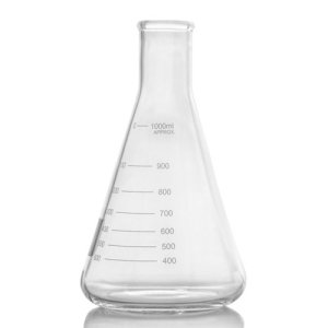 5000ml Flask, Narrow Mouth Erlenmeyer, Borosilicate 3.3 Glass, Karter Scientific 213G17 (Single)