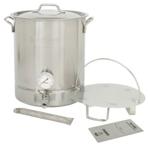 61dIBYP2slL.Bayou Classic 800-416 16 Gallon Stainless Steel 6 Piece Brew Kettle