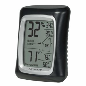 AcuRite 00325 Home Comfort Monitor, Pack of 1, Black