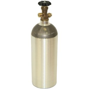 Luxfer CO2-5LB-LUXZebra DNA L6X Aluminum CO2 Tanks with CGA320 on/Off Valve (5 LB, Brushed)