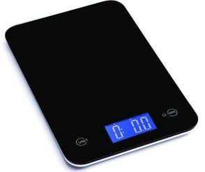 Ozeri Touch Professional Digital Kitchen Scale (18 lbs Edition), Tempered Glass in Elegant Black