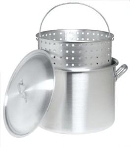 Bayou Classic 8000 80-Quart Aluminum Stockpot with Boil Basket