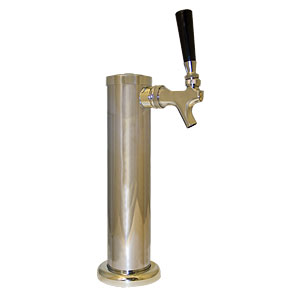 """2-1/2"""" Column Tower - Chrome Plated - Air Cooled - 1 Faucet"""