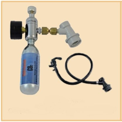 Ball lock complete assembly with mini CO2 kit