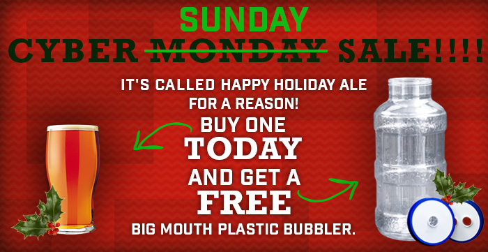 Free Big Mouth Bubbler Fermenter