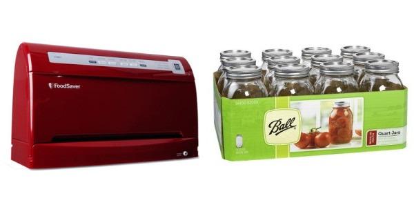 foodsaver and mason jars