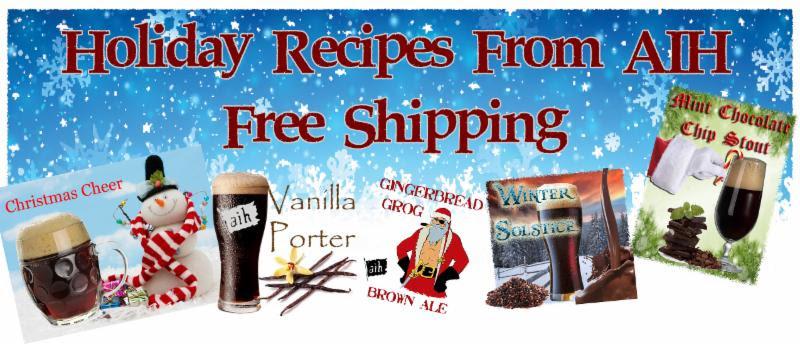Holiday Homebrewing Beer Recipe Kits