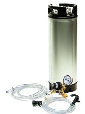 5 Gallon Economy Ball Lock Keg System, New AIH Cornelius Keg (E)