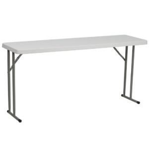 FlashFurniture RB-1860-GG 18 by 60-Inch Granite White Plastic Folding Training Table