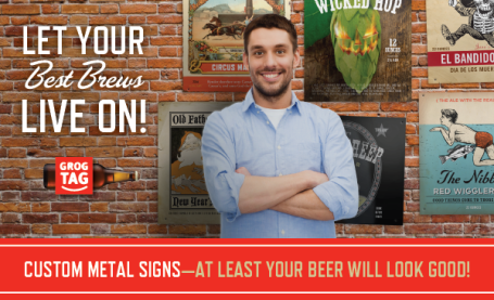 Custom Metal Bar Pub Signs GrogTag