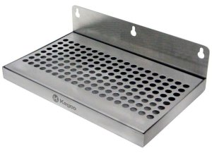 "Beer Drip Tray 10"" Stainless Steel Wall Mount No Drain"