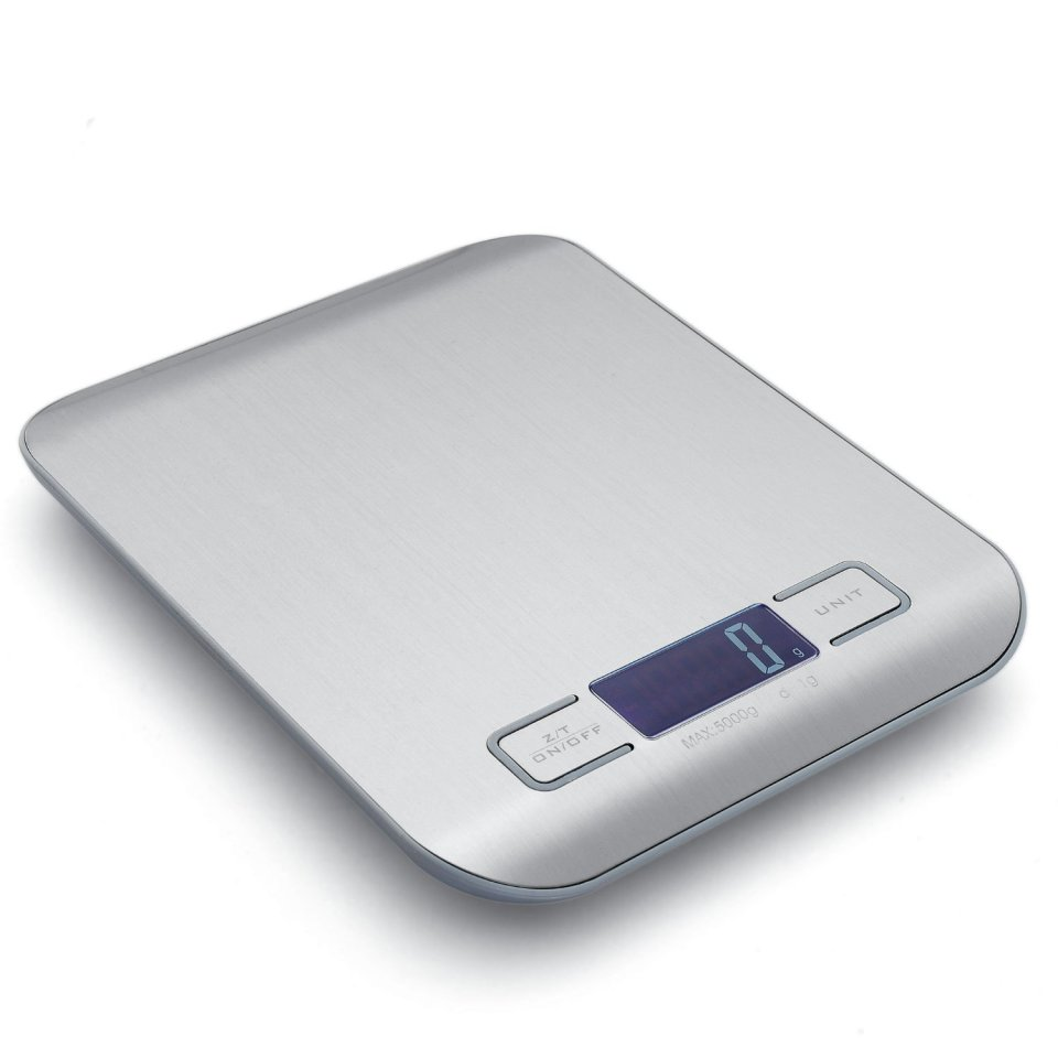 Multifunction Precision Electronic Digital 11 Lb/5 Kg Kitchen Scale in 1 G/0.05 Oz Graduation with Tare and Auto Off Function for Accurate Measuring Purposes