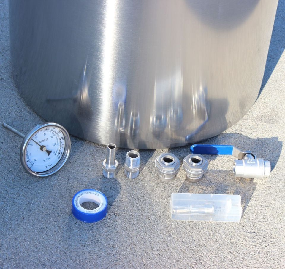Mouse over image to zoom CONCORD-Home-Brew-Kettle-Stainless-Steel-DIY-Kit-ONLY-Thermometer-Ball-Valve-Etc CONCORD-Home-Brew-Kettle-Stainless-Steel-DIY-Kit-ONLY-Thermometer-Ball-Valve-Etc Have one to sell? Sell now CONCORD Home Brew Kettle Stainless Steel DIY Kit ONLY Thermometer Ball Valve Etc
