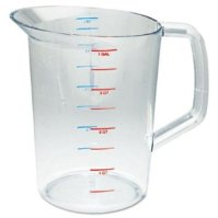 Rubbermaid Commercial Products FG321800CLR 4-Quart Bouncer Measuring Cup