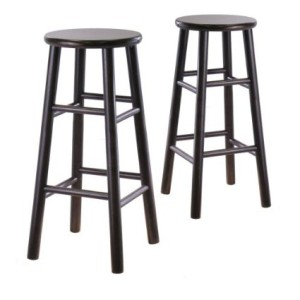 Winsome Wood S/2 Wood 30-Inch Bar Stools, Espresso Finish