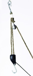 "Ratchet Pulley Metal Gear - 3/8"" Rope - 250 lbs Capacity"
