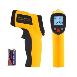 Tsing Digital Infrared (IR) Thermometer, with Laser Sight, Large Temperature Range and Instant-read Temperature Gun (Battery Included)