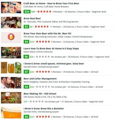 Online brewing courses