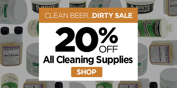 homebrew cleaning and sanitizing