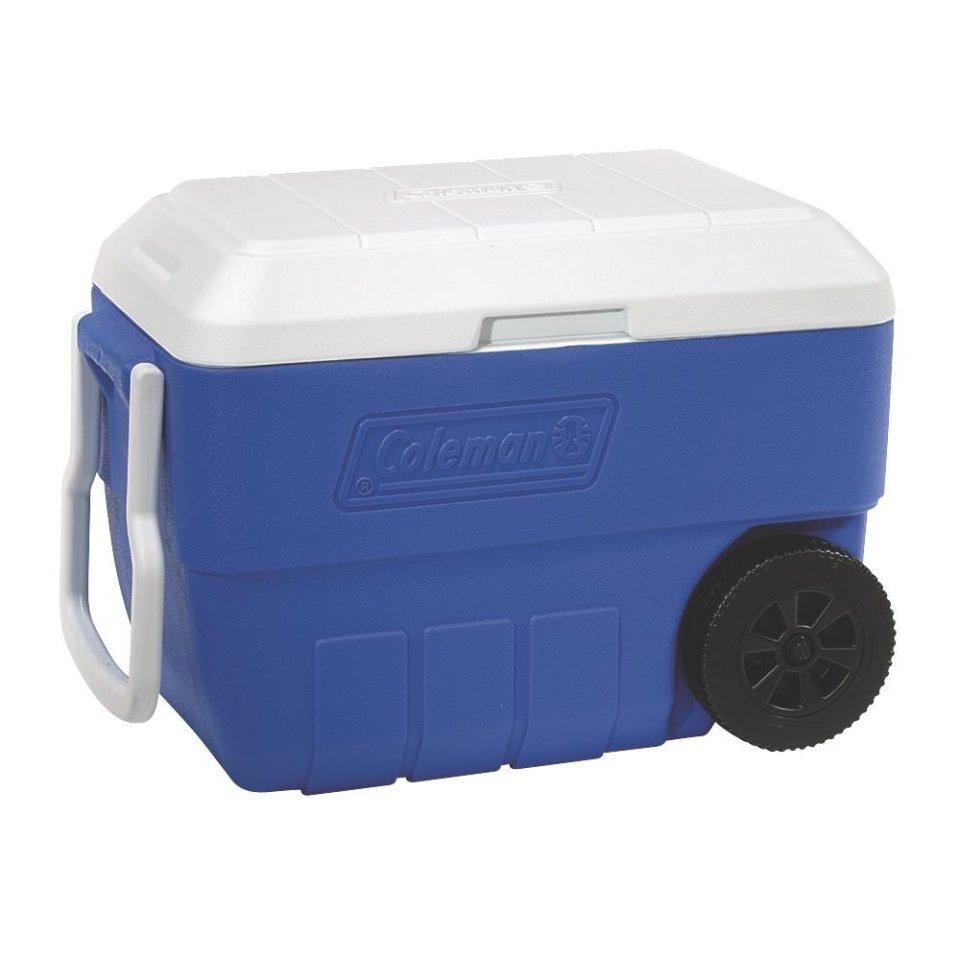 Coleman 5856A718G 56 Quart Wheeled Cooler - Blue
