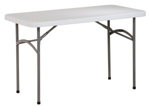Work Smart Resin Multi-Purpose Table, 4-Feet Long