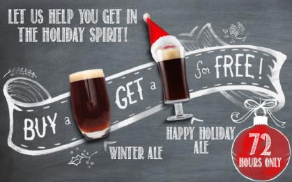 Buy a Winter Ale, Get a Happy Holiday Ale FREE!