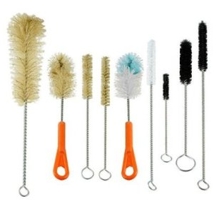 Ultimate Bottle & Tube Brush Cleaning Set 9 Sizes & Shapes - Natural & Synthetic Bristles (DESIGN, 1)