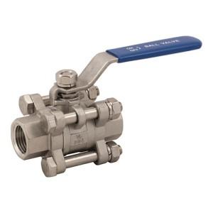 3 piece stainless ball valve
